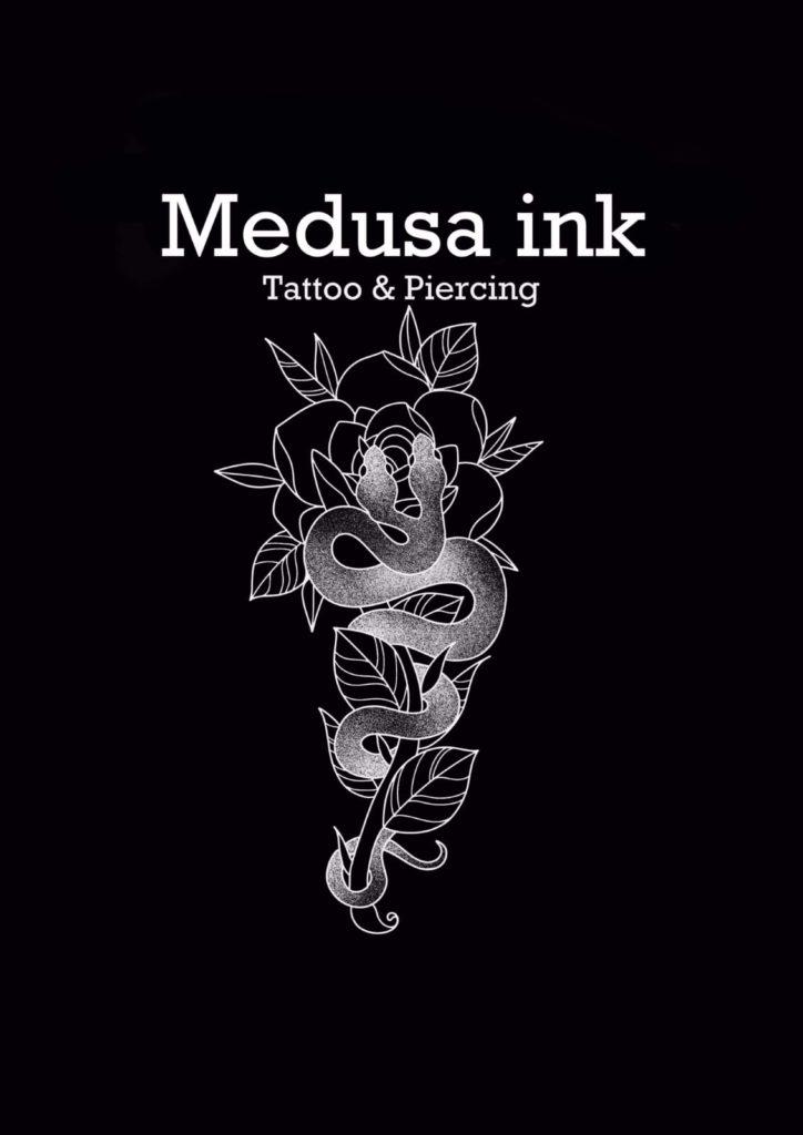 medusa ink logo - great barr tattoo studio
