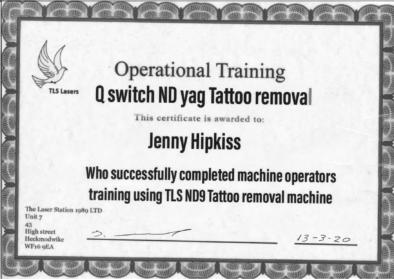jenny certificate